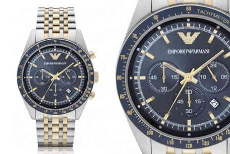 Ticara Watches - An Emporio Armani AR6088 two tone mens chronograph watch - Save 63%
