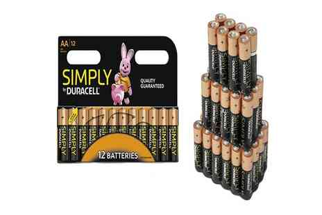 Impress Gadgets - 24 Duracell AA or AAA or a mixture of both batteries - Save 61%