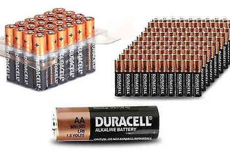 Mspackaging - Duracell AA or AAA Batteries Pack of 12, 24, 40, 48 or 60 - Save 56%
