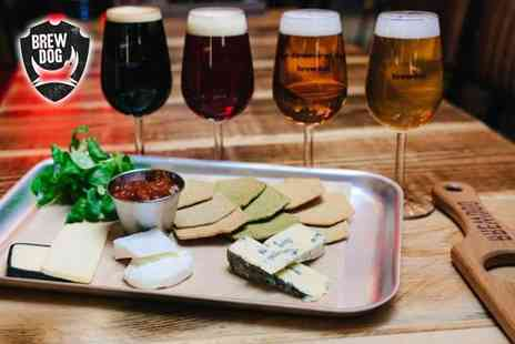 BrewDog - Self guided craft beer tasting experience for one person with a cheese or charcuterie board - Save 54%