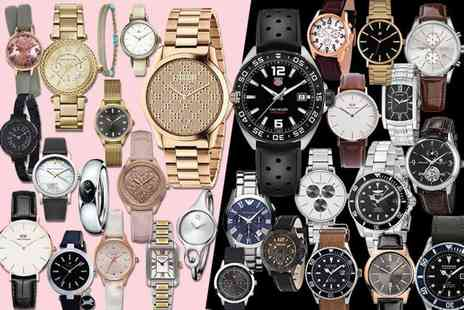 Brand Arena - Mystery watch deal for him or her Tag Heuer, Gucci, Hugo Boss, Daniel Wellington, Armani, Calvin Klein, Spirit, Kahuna And More - Save 0%