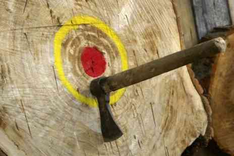 Devon Country Pursuits - Axe and Knife Throwing Experience for One, Two or Four - Save 50%