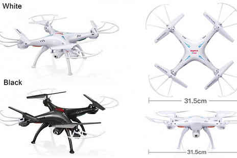 Yello Goods - Syma X5SW HD Quadcopter Drone with HD Camera Choose from 2 Colours - Save 85%