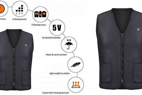 Good 2 Items - Usb Electric Heated Vest Available in 5 Sizes - Save 78%