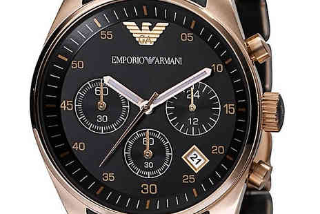 AW Watches - Emporio Armani AR5905 Spotivo Black Chronograph Watch With Free Delivery - Save 73%
