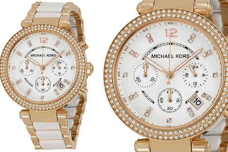 AW Watches - Michael Kors Two Tone MK5774 Chronograph Watch With Free Delivery - Save 64%