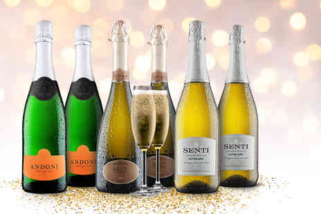 Virgin Wines - Six bottles of sparkling wine - Save 41%
