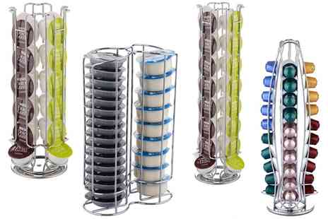 Groupon Goods Global GmbH - Vinsani Coffee Pod Stand for Dolce Gusto, Tassimo or Nespresso Pods - Save 75%