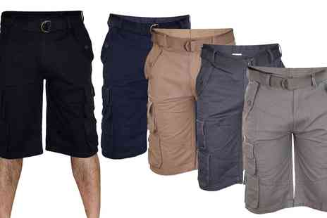 Groupon Goods Global GmbH - Mens Bermuda Cotton Cargo Shorts - Save 23%