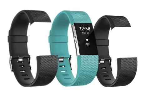 Groupon Goods Global GmbH - Fitbit Charge 2 Activity Tracker with Two Black Classic Replacement Bands With Free Delivery - Save 6%