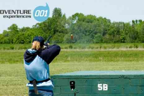 Adventure 001 - Clay Pigeon Shooting with 32 Clays and Seasonal Refreshments for One or Two - Save 0%