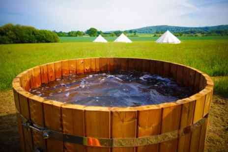 Canvas and Stars - One Night Glamping for 2 with Breakfast, Hot Tub Access and Prosecco - Save 46%