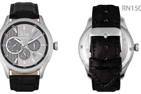 Ideal Deal - Reign Gustaf Automatic Leather Band Watch Available in Four Designs - Save 91%