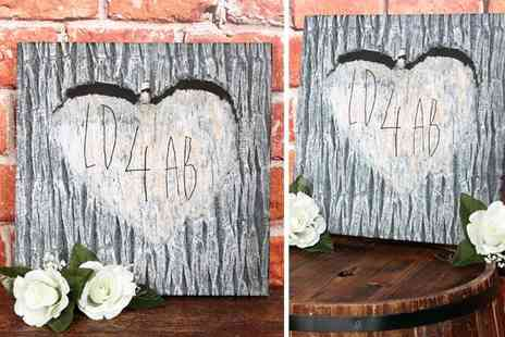 Your Perfect Canvas - Personalised carved wood canvas print - Save 82%