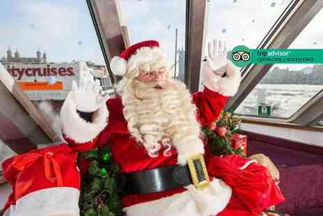 City Cruises - One hour Sail with Santa Thames sightseeing cruise childs ticket with a gift and refreshments - Save 0%