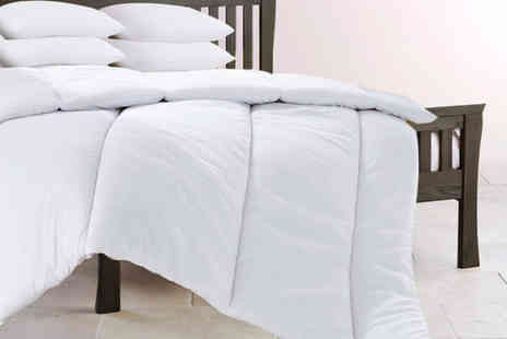 Direct Warehouse - Single 13.5 tog duvet and four pillows - Save 67%