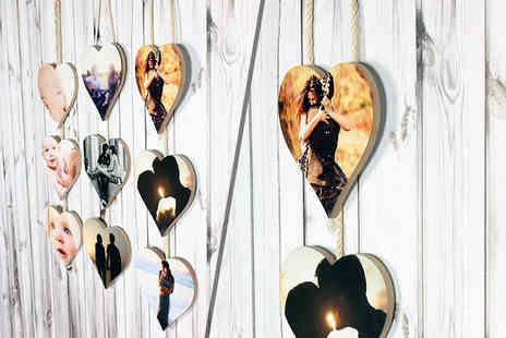 Your Perfect Canvas - Personalised set of hanging hearts - Save 80%