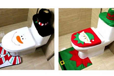 Snap One Up - 3 Piece Festive Bathroom Decoration Sets - Save 74%