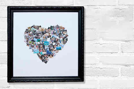 Who Art Now - Regular or Large personalised classic framed heart photo collage - Save 91%