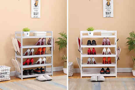 Dreams Outdoors - Wooden five tier shoe rack choose from two colours - Save 31%