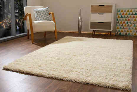 Mega Store Online - Shaggy rug Choose from 4 colours and 17 sizes - Save 44%