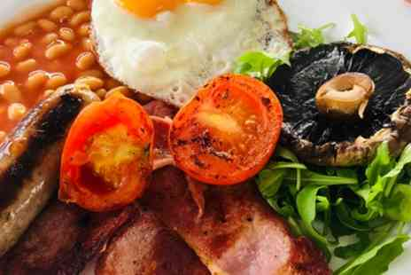 Salt Shack Cafe - Full English Barbecue Breakfast with Tea or Coffee for Two - Save 33%