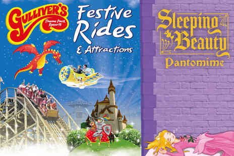 Gullivers - One ticket to Twixmas at Gullivers World Warrington including theme park entry and a Sleeping Beauty pantomime on 29th or 30th December 2018 - Save 28%