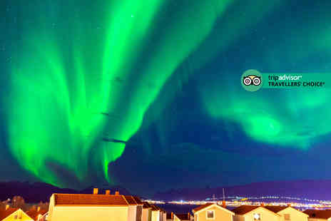 Worldwide Tours & Travel - Three or four night Tromso, Norway getaway with Northern Lights chase tour and flights - Save 22%