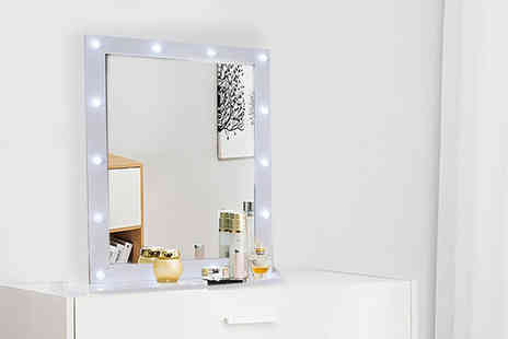 Black Feather - An extra large Led Hollywood vanity mirror - Save 67%