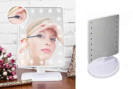 Black Feather - An Led touchscreen makeup mirror - Save 70%