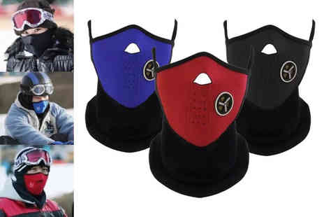 Snap One Up - Winter sport half face mask choose between three colours - Save 72%