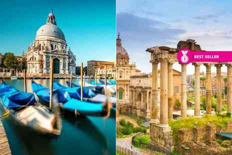 Crystal Travel - Four or six night 4 Star Rome and Venice break with train transfers and return flights - Save 30%