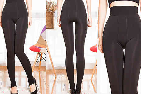 Best mall ever - Two Pairs of Fleece Lined Leggings Choose Five Colours - Save 82%