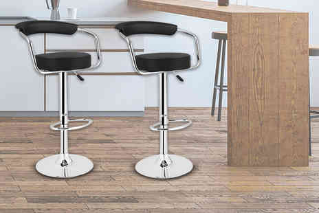 ViVo Technologies - Two faux leather high breakfast bar stools - Save 63%