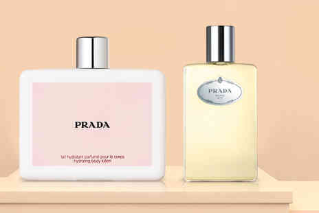 Deals Direct - 250ml bottle of Prada shower gel, or 200ml bottle of Prada body lotion - Save 58%