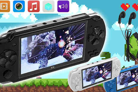 Domosecret - 32 Bit Handheld Console Plus 10,000 Built In Games and Earphones - Save 75%