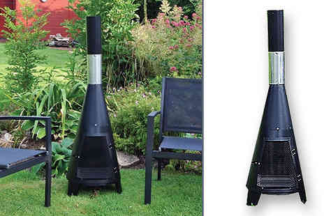 Home Season - Large Garden Tower Chiminea with Grill - Save 69%