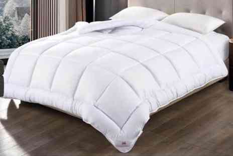 Black Feather - Microfibre like down duvet choose from four sizes and three tog options - Save 71%