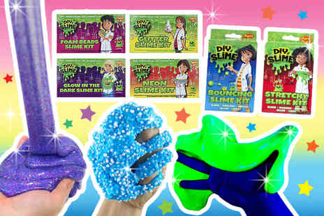 Black Feather - Pack of four DIY slime making kits - Save 75%
