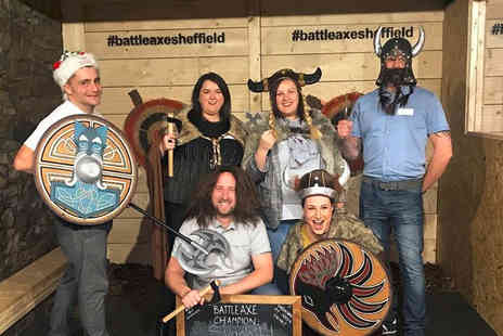 BattleAxe Sheffield - Viking axe throwing experience for one adult and one child - Save 60%