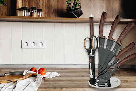 Smart Retail Goods - Berlinger Haus 8 Piece Stainless-Steel Diamond Coated Knife Set Choose From 2 Colours - Save 77%