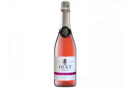 Casa de Vinos Finos - 12 Bottles of Award Winning Duet Sparkling Semi Dry Spanish Rose - Save 61%