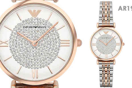AW Watches - Womens Armani Designer Watches Choose From 2 Designs - Save 69%