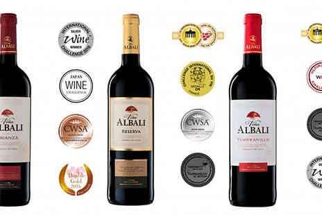 Casa de Vinos Finos - Selection of 12 Awarded Spanish Red Ages Wines Vina Albali O.D.Valdepenas - Save 65%