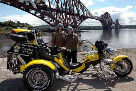 Trike Tours Scotland - One hour trike tour for two people including equipment, photos, hot drink and shortbread at a choice of two or four locations or tour of Loch Lomond - Save 66%
