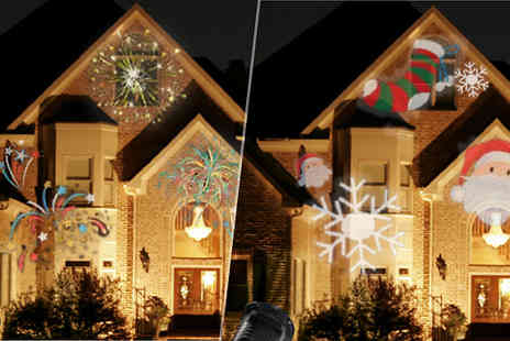 Groundlevel - New Years Led Laser Projecting Light 5 Slides - Save 81%