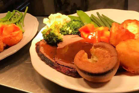 Laceys Bistro - Three course Sunday roast with a glass of wine each for two - Save 56%
