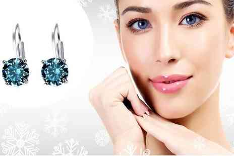 Evoked Design - Blue topaz earrings - Save 86%