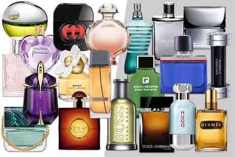 Deals Direct - Mystery perfume deal for him or her Lady Gaga, Hugo Boss, DKNY, Calvin Klein, Burberry, J.Lo, Versace, Paco Rabanne and many more - Save 0%
