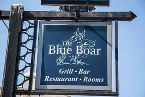 The Blue Boar Abridge Gastro Hotel - Two Course Meal with Wine or Bellini Cocktail for Two or Four - Save 44%